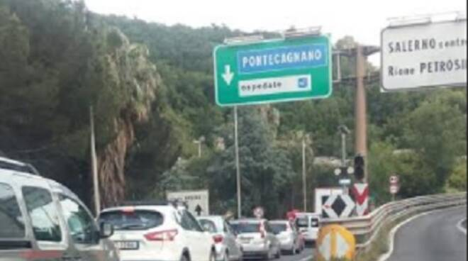 Traffico tangenziale Salerno
