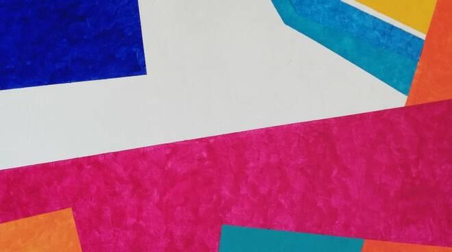 1 - Beatríz Cárdenas, Geometrie Solari, tecnica mista su tela, cm. 80x80, 2021