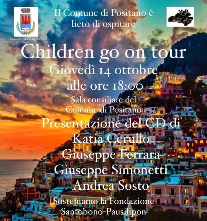 """A Positano arriva """"Children go on tour"""": giovedì 14 ottobre la presentazione del CD dedicato ai bambini del """"Santobono-Pausilipon"""""""
