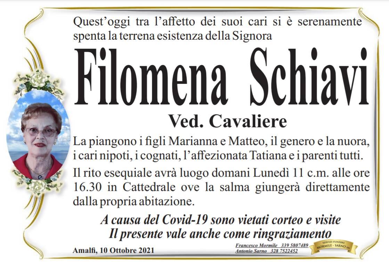 Amalfi piange Filomena Schiavi, vedova Cavaliere