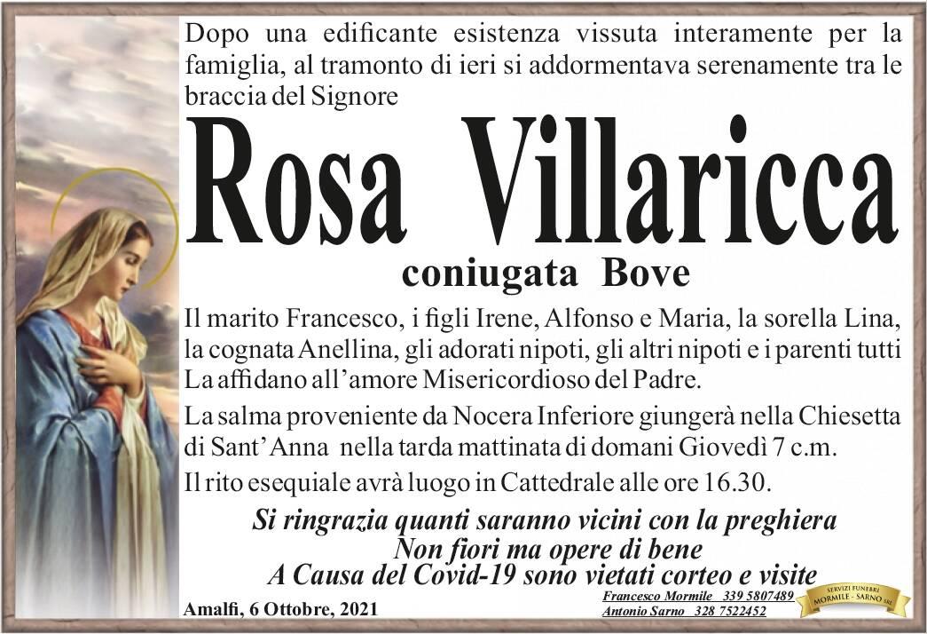 Amalfi: si è addormentata tra le braccia del Signore Rosa Villaricca, coniugata Bove