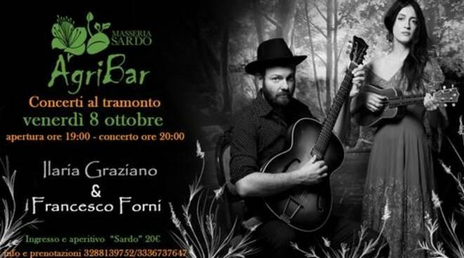 Napoli – Ilaria Graziano e Francesco Forni domani all'Agribar Masseria