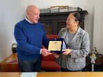 Cerimonia di consegna della targa per il dirigente della Funicolare di Capri Michele Mazza che va in pensione