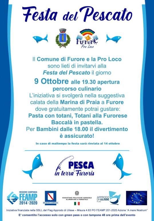 Continuano gli eventi Pesca in Terra Furoris: sabato 9 ottobre la Festa del Pescato