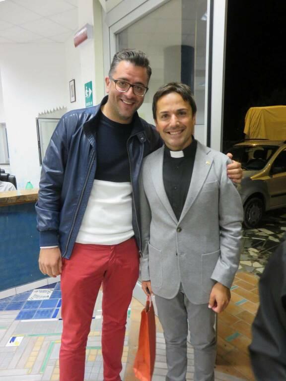 Don Giuseppe Milo con Tommaso Naclerio e Cai