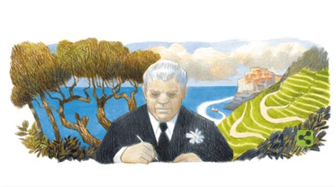 Il Doodle di Google di oggi celebra il 125° compleanno del poeta Eugenio Montale