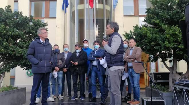 Maurizio Cinque con Manfredi Vico Equense