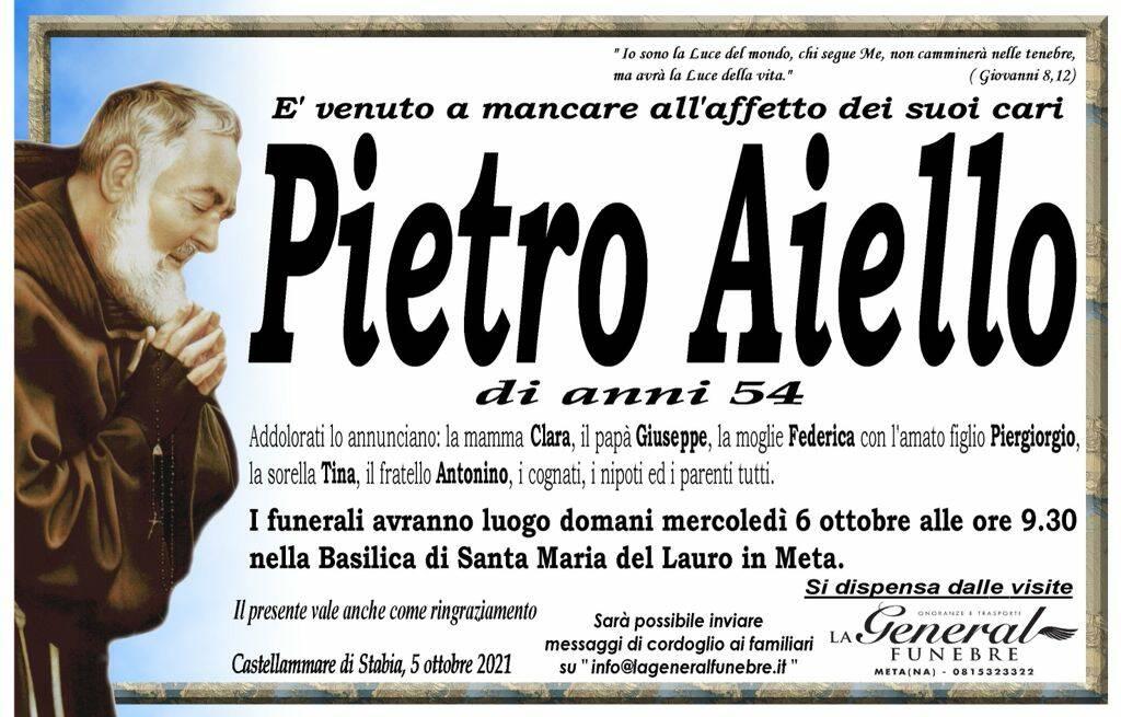Meta e Castellammare di Stabia piangono Pietro Aiello