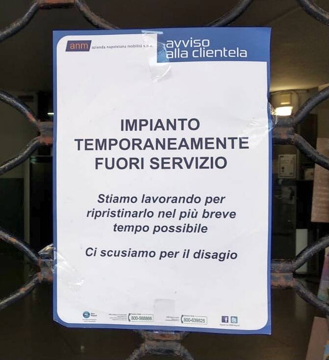 Napoli: funicolare Montesanto chiusa nella domenica elettorale