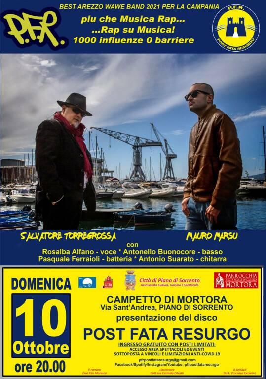 """Piano di Sorrento, il concerto di presentazione del disco """"Post Fata Resurgo"""" si terrà il 10 ottobre"""