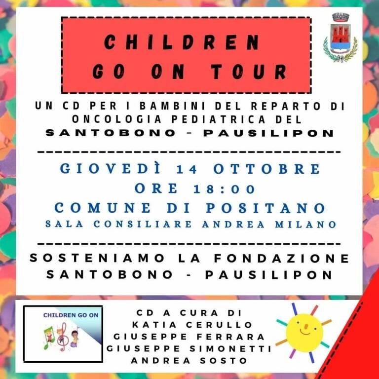 """Positano: """"Children go on tour"""" per i bambini del Santobono"""