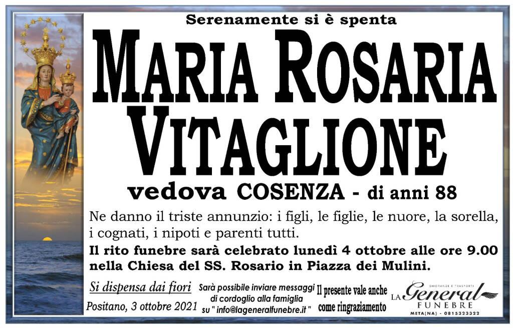 Positano in lutto: all'età di 88 anni si è spenta Maria Rosaria Vitaglione, vedova Cosenza