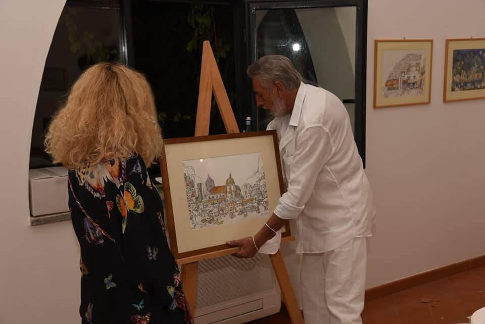Positano: inaugurata la mostra di Ed Wittstein