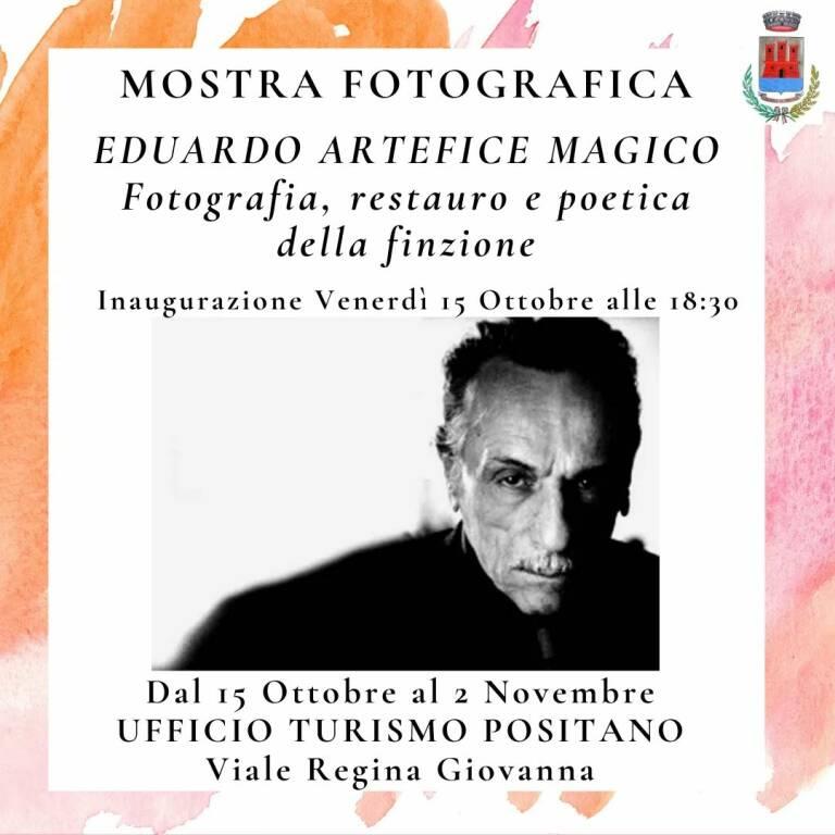 """Positano: venerdì l'inaugurazione della mostra fotografia """"Eduardo artefice magico"""""""