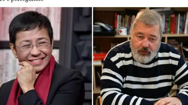 Premio Nobel per la Pace a due giornalisti