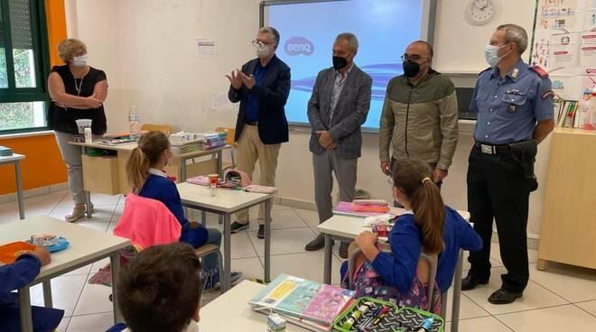 Ravello: il sindaco Paolo Vuilleumier incontra i bambini a scuola