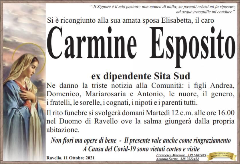 Ravello in lutto: si è spento Carmine Esposito, ex dipendente Sita Sud