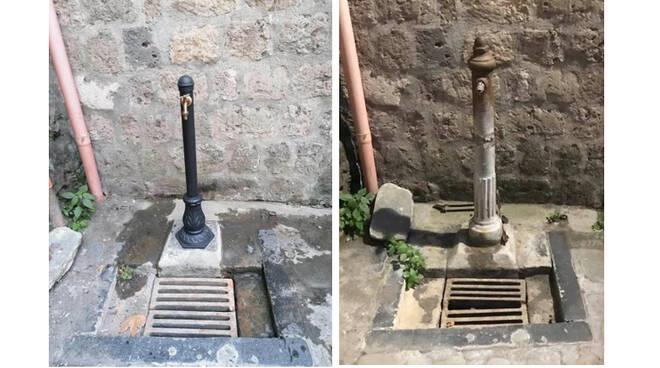 Sorrento, sostituita la fontana sulle scalinate che conducono al borgo di Marina Grande