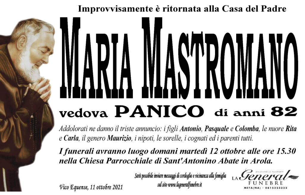 Vico Equense piange l'82enne Maria Mastromano, vedova Panico