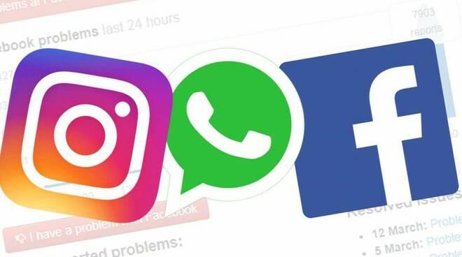 WhatsApp, Instagram e Facebook down